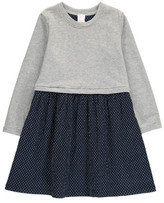 Little Karl Marc John Respy Polka Dot Fleece Dress