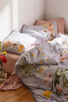 Urban Outfitters Phoebe Floral Tassel Duvet Cover