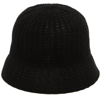 Reinhard Plank Hats - Mucin Termo Knitted-cotton Bucket Hat - Black