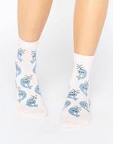 Asos Glittery Narwhale Ankle Socks