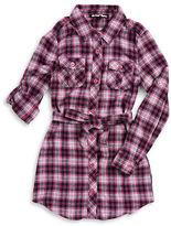 Planet Gold Girls 7-16 Plaid Shirtdress
