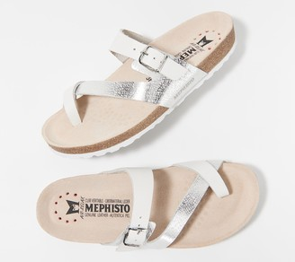 Mephisto Leather Toe Loop Sandals - Nalia