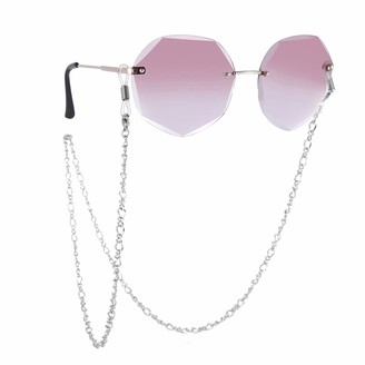LIKGREAT Flat Link Chain Reading Glasses Chains Sunglasses Chain Lanyards Eyeglasses Strap Eyewear Cord Rope Strap for Women - Silver - Medium