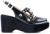Toga Pulla platform studded sandals - women - Calf Leather/Leather/rubber - 36