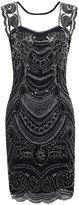 PrettyGuide Women¡ ̄s 1920s Embroidery Sequin Deco Cocktail Gatsby Flapper Dress S