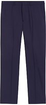 Jaeger Wool Regular Fit Travel Suit Trousers, Navy