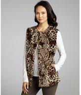 Via Spiga leopard print faux fur 'Julia' belted vest