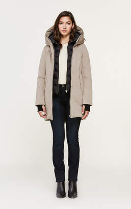 Soia & Kyo BELINA mid-length classic down coat with puffy bib