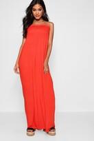 boohoo Shelley Shirred Bandeau Maxi Dress