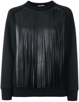 Neil Barrett Fringed Sweatshirt