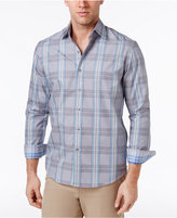 Tasso Elba Men's Plaid and Dot 100% Cotton Shirt, Only at Macy's