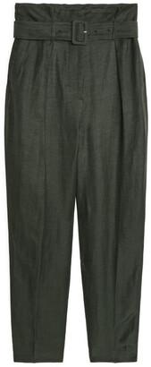 Arket Linen Blend Belted Trousers