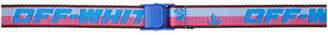 Off-White Blue and Pink Mini 2.0 Industrial Belt
