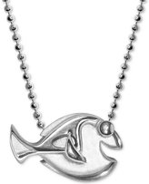 "Alex Woo Sterling Silver ""Finding Dory"" Dory Pendant Necklace"