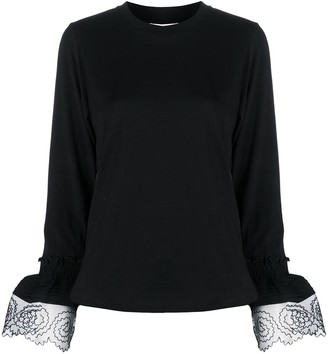 See by Chloe mesh-trimmed T-shirt