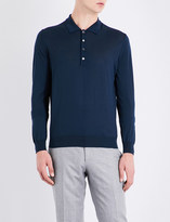 Corneliani Slim-fit merino wool polo shirt