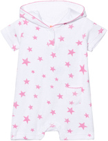 Sunuva Infants White and Pink Pop Star Towelling Onesie