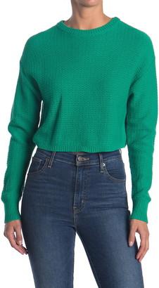 Abound Textured Crop Sweater