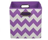 Bed Bath & Beyond Modern Littles Chevron Folding Storage Bin in Color Pop Purple