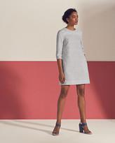 Ted Baker Fish Print Shift Dress Light Grey