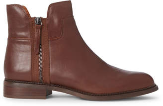 Franco Sarto Brown Halford Leather Ankle Boots