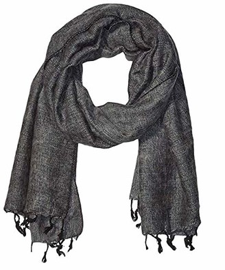 Cool Trade Winds Scarf / Wrap - Silver Grey - 100% Fair Trade Yak Cotton Shawl