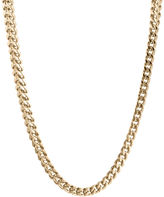 JCPenney FINE JEWELRY Mens Stainless Steel & Gold-Tone IP 20 4mm Foxtail Chain