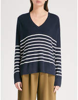 The White Company Striped knitted jumper
