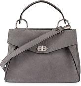Proenza Schouler Hava Medium Nubuck Top-Handle Satchel Bag, Gray