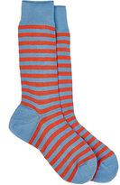 Barneys New York Men's Rugby-Striped Mid-Calf Socks-LIGHT BLUE