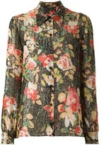 Saint Laurent floral print shirt - women - Silk/Polyester/Viscose - 36