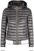 Herno Grey Quilted Shell Jacket