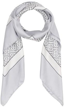 Burberry Silk Monogram-Print Scarf