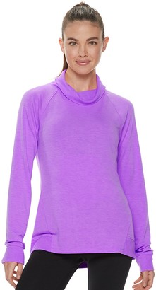 Tek Gear Women's French Terry Cowlneck Top