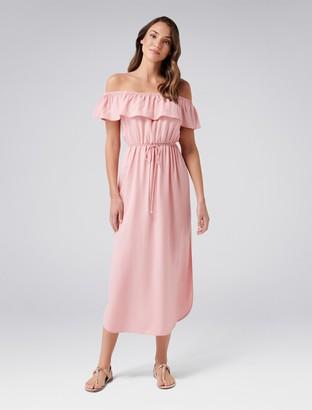 Forever New Maria Maxi Bardot Dress - Pink Bubbles - 8