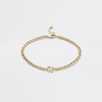 River Island Girls Gold colour RI chain choker necklace