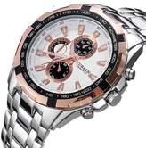 Aplustore Simple and generous fashion steel strip waterproof men's quartz watch