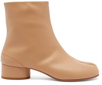 Maison Margiela Tabi Split-toe Leather Boots - Nude
