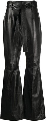 16Arlington Flared Leather Trousers