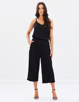 Dorothy Perkins Lace Wide Leg Cropped Trousers