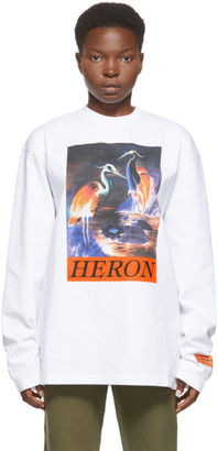 Heron Preston White Heron Times Long Sleeve T-Shirt