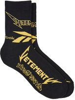 Vetements Men's Heavy-Metal-Inspired Cotton-Blend Socks