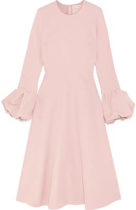 Roksanda Satin-trimmed Crepe Midi Dress - Pastel pink