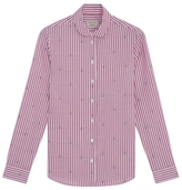MAISON KITSUNÉ Jacquard Embroidered Fox Shirt