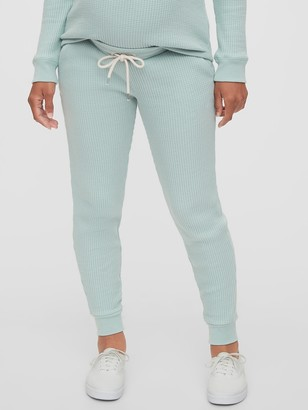 Gap Maternity Waffle-Knit Under-Belly Joggers
