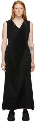 Issey Miyake Black Cross Steam Tank Dress