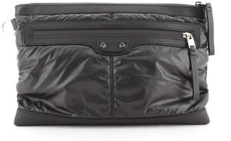 Balenciaga Classic City Clip Pouch Nylon with Leather Medium