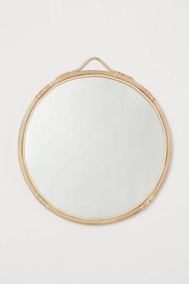 H&M Rattan-framed mirror