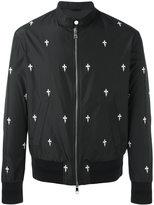 Neil Barrett Fleur de Thunder bomber jacket - men - Polyester/Viscose - M