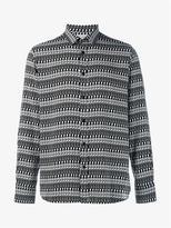 Saint Laurent Skeleton Print Long Sleeve Shirt